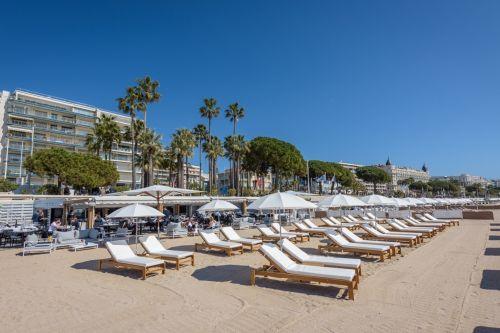 Le restaurant de plage La Môme à Cannes