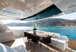 Location bateau Riva 100 Corsaro dans le sud de la France - pont principal arrière