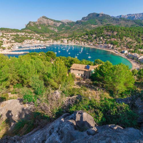 Vue sur Port d'Andratx à Majorque dans les îles Baléares