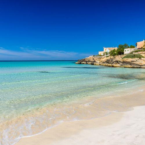 La belle plage de Es Trenc à Majorque dans les îles Baléares