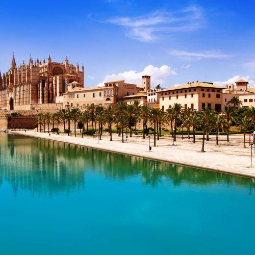 La cathédrale Santa Maria de Palma de Majorque dans les îles Baléares