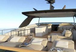 Location bateau Sanlorenzo SL106 dans le sud de la France - flybridge
