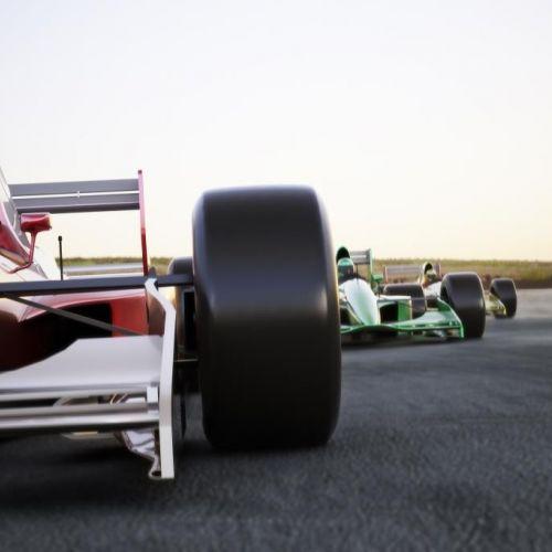 Deux voitures de Formule 1, course automobile du Grand Prix de Monaco