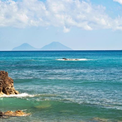 A beautiful beach in the province of Messina in Sicily