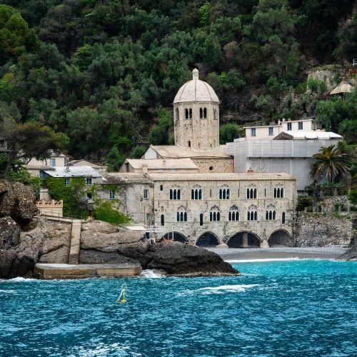 L'abbaye de San Fruttuoso en Italie