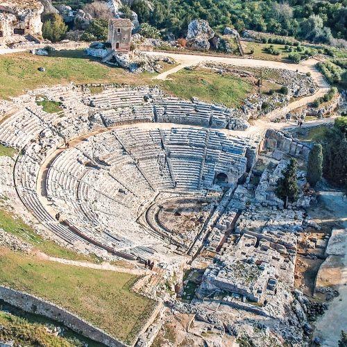 L'ancien théâtre grec de Syracuse en Sicile