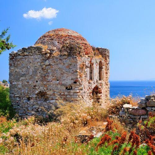 La vieille ville médiévale de Kastro abrite de nombreux vestiges et églises