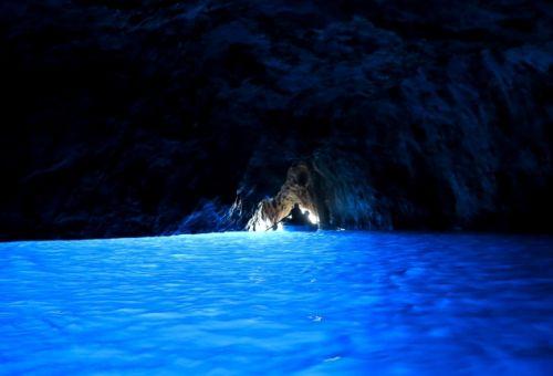La grotte bleue aussi appelée grotta azzurra à Capri