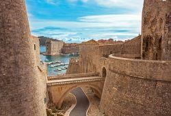 Les remparts dans la vieille ville de Dubrovnik en Croatie