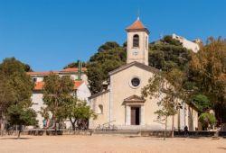 L'église Sainte-Anne située sur l'île de Porquerolles dans le sud de la France