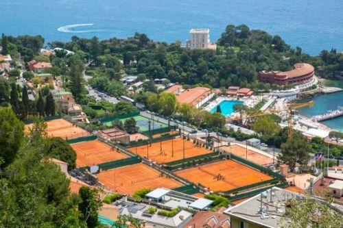 Terrains de tennis en terre battue à Monaco lors des Monte-Carlo Masters