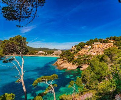 L'île de Majorque et le littoral de Canyamel durant une location de yacht aux Baléares