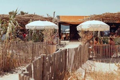 Le restaurant de plage Cabane Bambou à Saint-Tropez