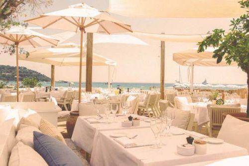 Déjeuner au restaurant de plage Loulou Ramatuelle à Saint-Tropez