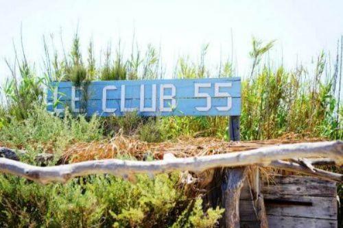 Le restaurant de plage Club 55 à Saint-Tropez