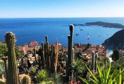 Le jardin exotique d'Eze avec une vue panoramique sur la Méditerranée